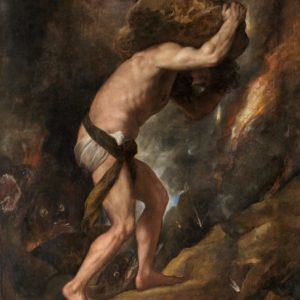 Sisyphe pousse son rocher